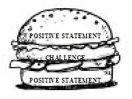 Positive Statement / Challenge / Positive Statement